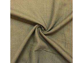 Ľanová tkanina hnedozelená