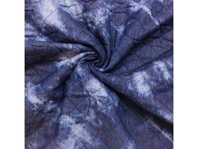 Prešívaná látka odretý vzhľad jeans modrá