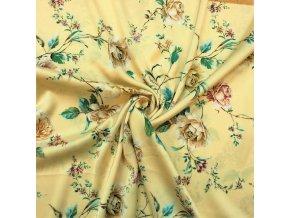 Umelý hodváb / Silky Armani divoké ruže na žltej
