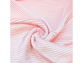 Umelý hodváb / Silky Armani ružové svetlé PLISÉ 1 cm