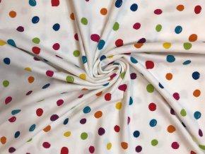 Bavlnený úplet farebné bodky