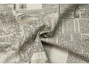 Bavlna režná noviny ivory