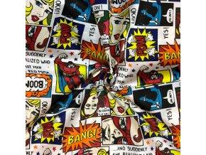 Bavlnené plátno komiks superhrdina