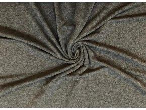 Teplákovina elastická tmavosivý melír 220 g/m2
