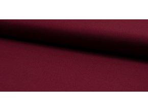 Bavlnená tkanina s keprovou väzbou bordová 150 g/m2