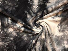 Teplákovina čierna batika