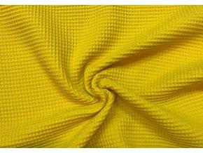 Bavlna vafle sýta žltá