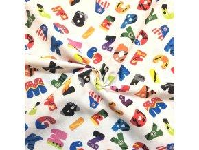 Bavlna režná farebné písmená