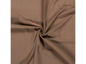 Bavlnený úplet 240 g hnedý