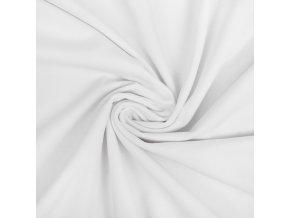 Bavlnený úplet elastický biely 190 g/m2