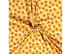 Jednostranný bavlnený úplet levíkovia