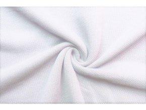 Teplákovina biela 100% bavlna, 400 g/m2