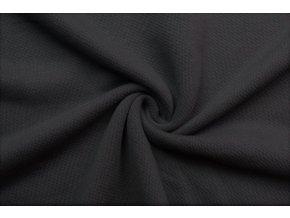Teplákovina čierna 100% bavlna, 400 g/m2