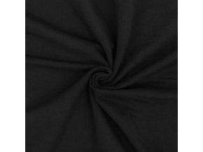 Teplákovina elastická GOTS čierna 250 g/m2