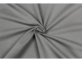 Teplákovina elastická GOTS sivá stone 250 g/m2