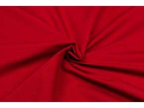 Teplákovina elastická GOTS červená tmavá 250 g/m2