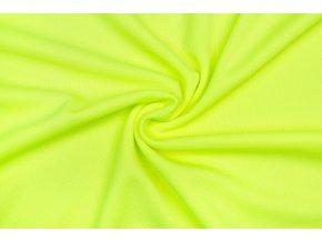 Športový úplet piké 100% polyester - žltý neón