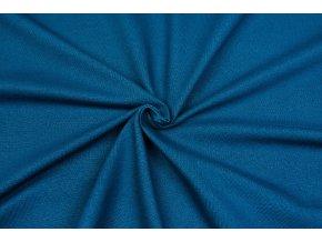 Bavlnený úplet vysokogramážny jeans petrolej