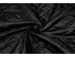 Podšívka čierna zateplená prešívaná