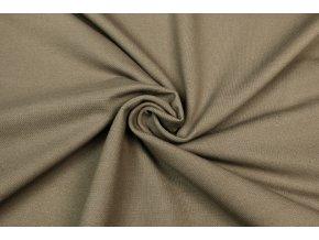 Bavlnený úplet vysokogramážny jeans piesková