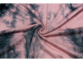 Bambusový úplet staroružová batika 210 g/m2