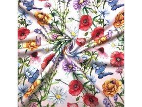 Teplákovina lúčne motýle na kvetoch