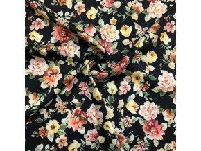 Umelý hodváb / Silky kvety farebné na čiernej