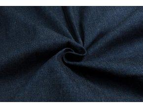 Rifľovina tenšia strečová tmavomodrý melír