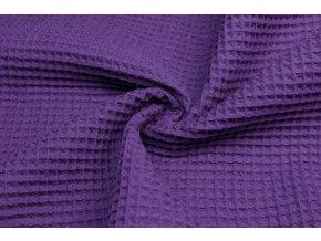 Bavlna vafle fialová