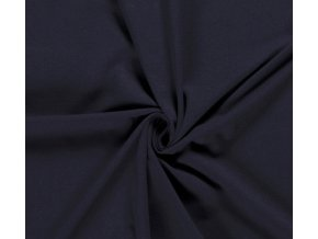 Bavlnený úplet 240 g tmavá tmavomodrá