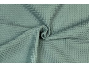 Bavlna vafle svetlá zelenosivá