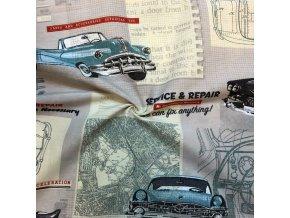 Bavlna režná staré autá