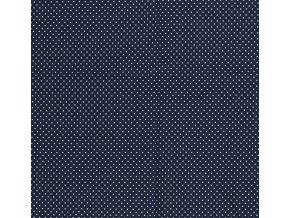Bavlnený úplet bodky na námorníckej modrej