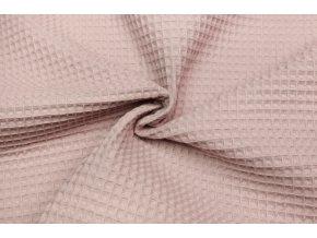 Bavlna vafle pudrová