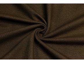 Bavlnený úplet vysokogramážny jeans hnedý