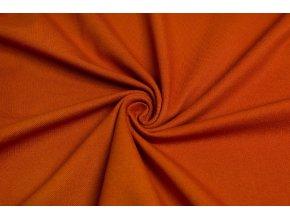 Bavlnený úplet vysokogramážny jeans oranžový