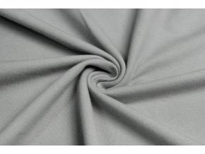 Bavlnený úplet vysokogramážny jeans svetlosivá
