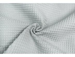 Bavlna vafle svetlosivá