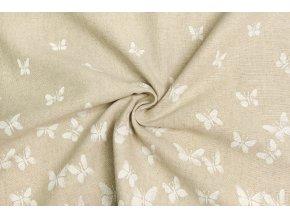 Bavlna režná bordúra motýle