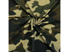 Teplákovina maskáč zeleno-čierno-hnedý