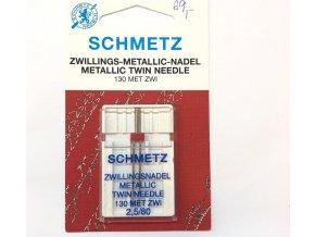Ihly strojové Schmetz dvojihla vyšívacia 80, rozteč 2,5 mm