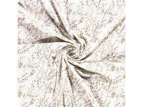 Bavlnený úplet jarná lúka