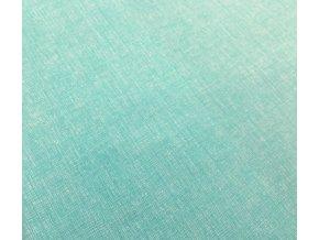 Bavlnené plátno pastelový mätový melír