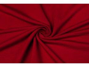 Bambusová teplákovina rubín - 96 % bambusová viskóza / 4 % elastan
