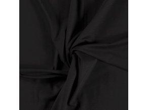 BIO Jednostranný bavlnený úplet čierny