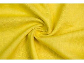Ľanová tkanina žltá