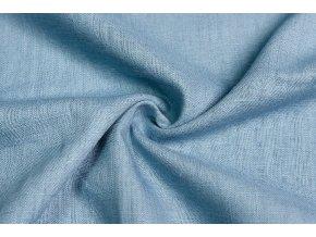 Ľanová tkanina jeans svetlá