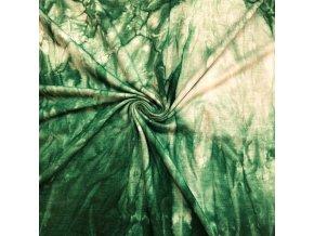 Bambusový úplet tmavozelená batika