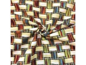 Bavlna režná farebné prepletené prúžky