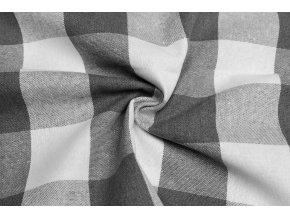 Bavlna režná sivé a biele kocky